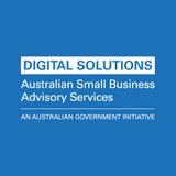 Digital Solutions square logo blue